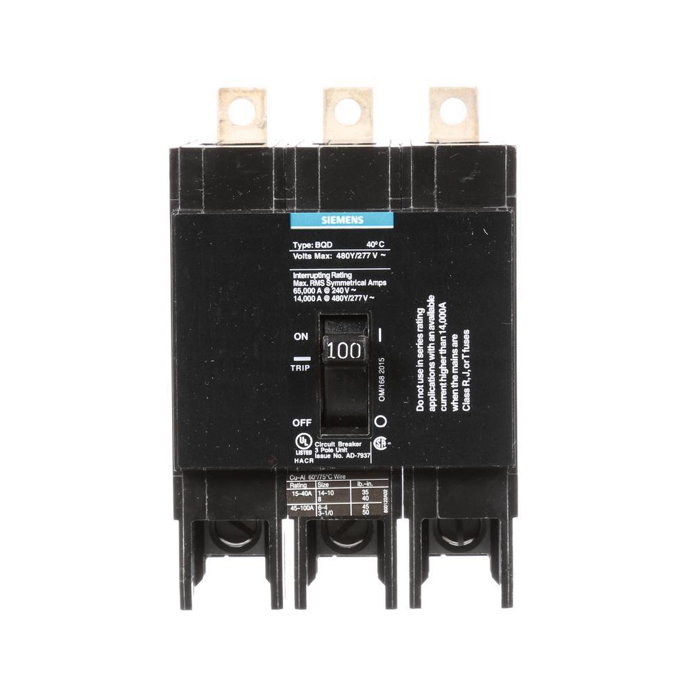 Siemens 25 Amp Triple Pole Type Bqd Bolt On Circuit Breaker Bqd325 Specialpurpose Opamp Circuits Electronics Questions And Answers 100
