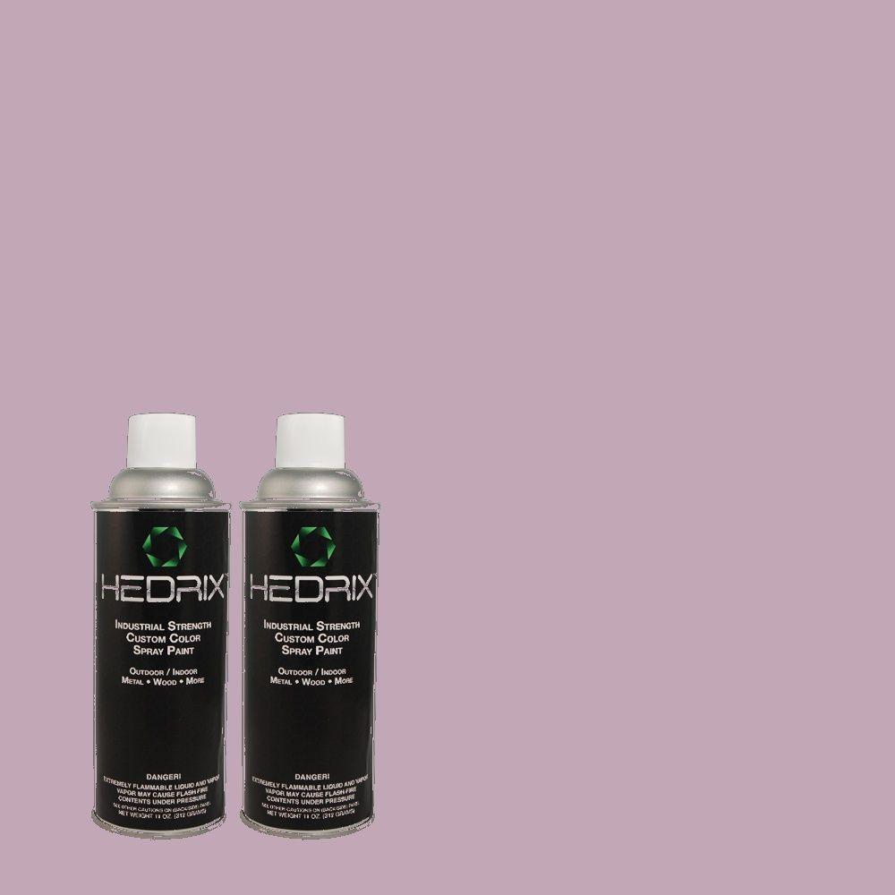 Hedrix 11 oz. Match of 2A35-4 Phlox Low Lustre Custom Spray Paint (2-Pack)