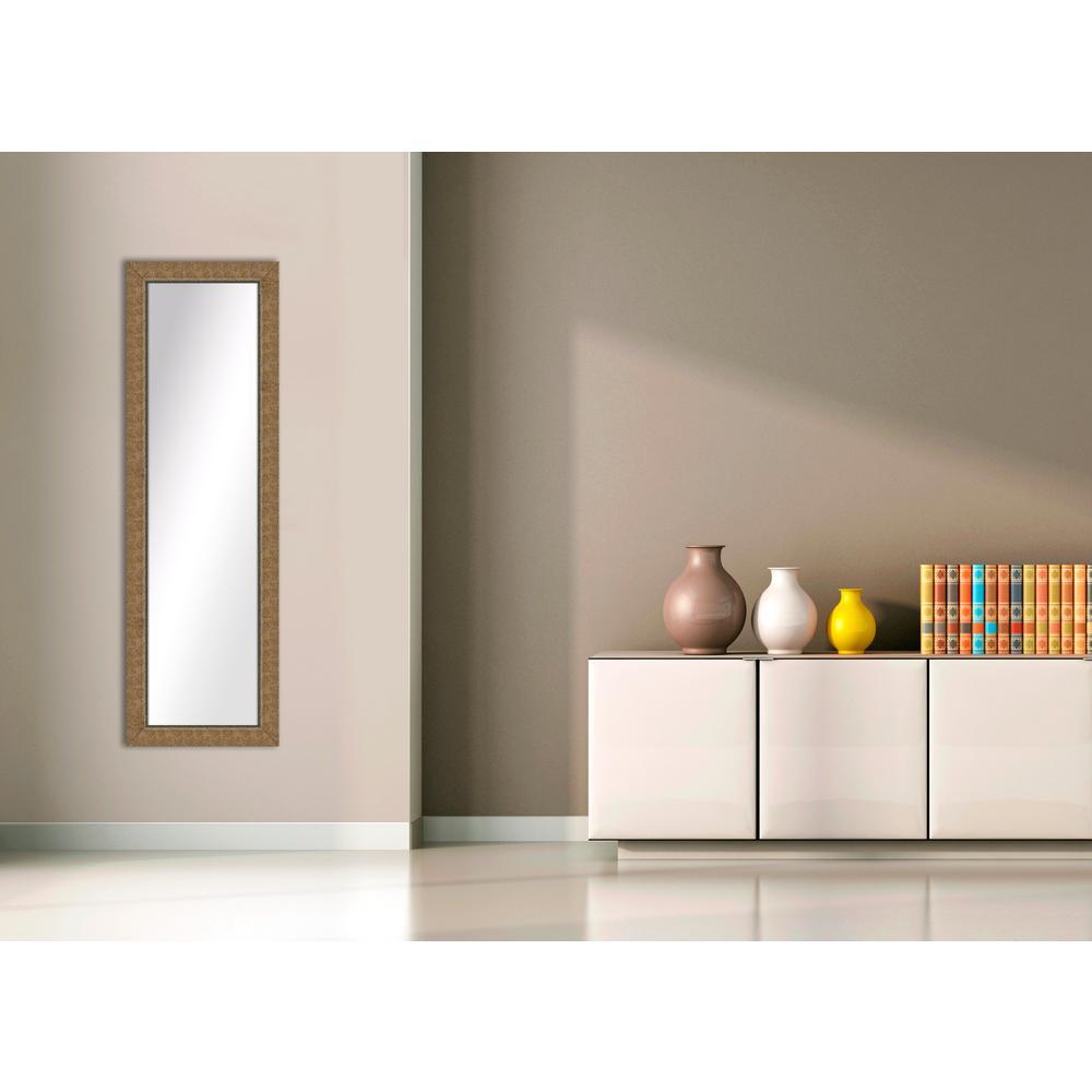52.5 in. x 16.5 in. Gold Framed Mirror