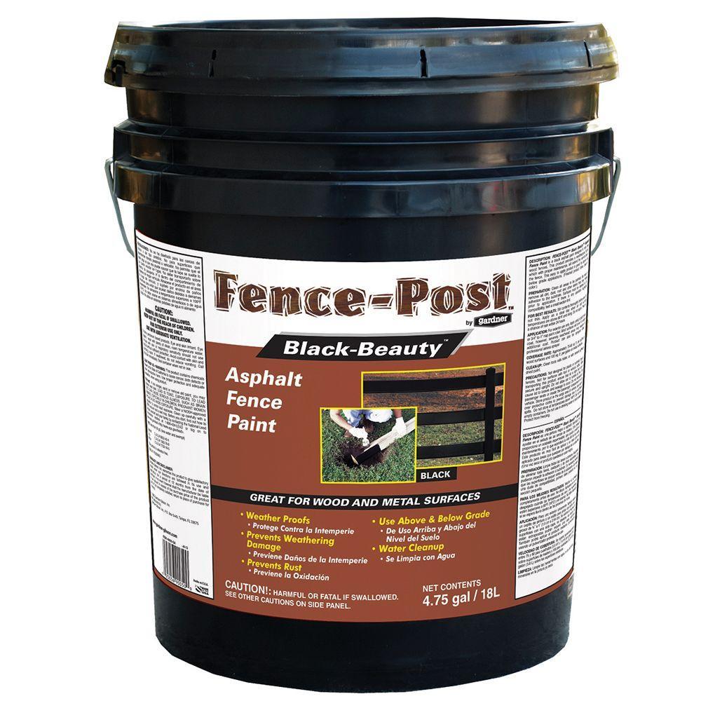 Gardner gal black beauty asphalt fence paint 9005 ga for Behr barn and fence paint