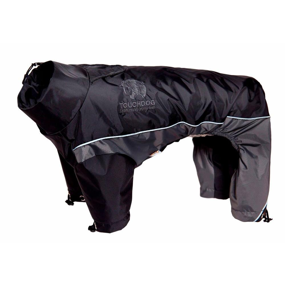 Medium Black and Grey Quantum-Ice Full-Bodied Adjustable and 3M Reflective Dog
