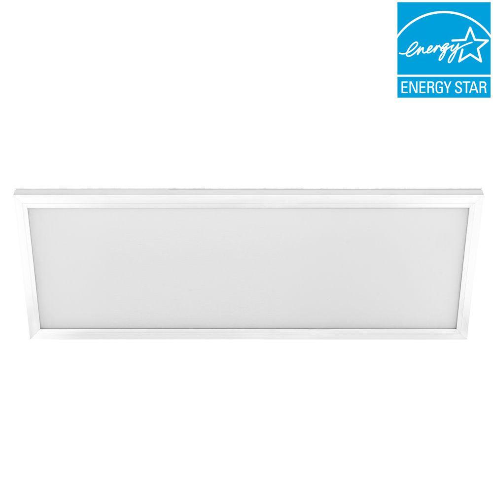 1 ft. x 4 ft. 50-Watt White Integrated LED Edge-Lit Flat Panel Flushmount