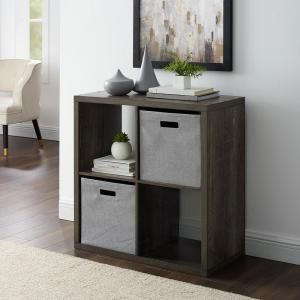 Dillon Grey 4-Cubby Storage Cabinet