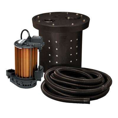 CSP-Series 1/2 HP Submersible Crawl Space Sump Pump Kit