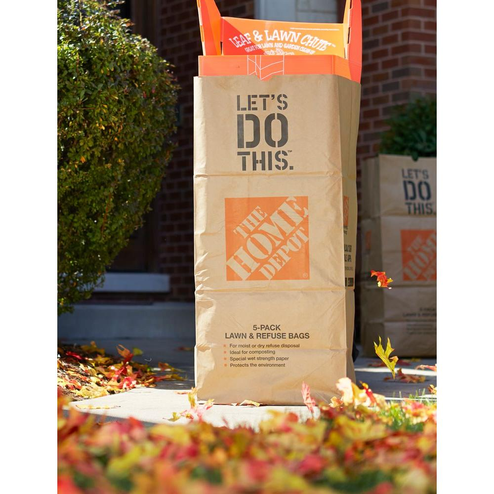 The Home Depot 30 Gal Paper Lawn And Refuse Bags 5 Count