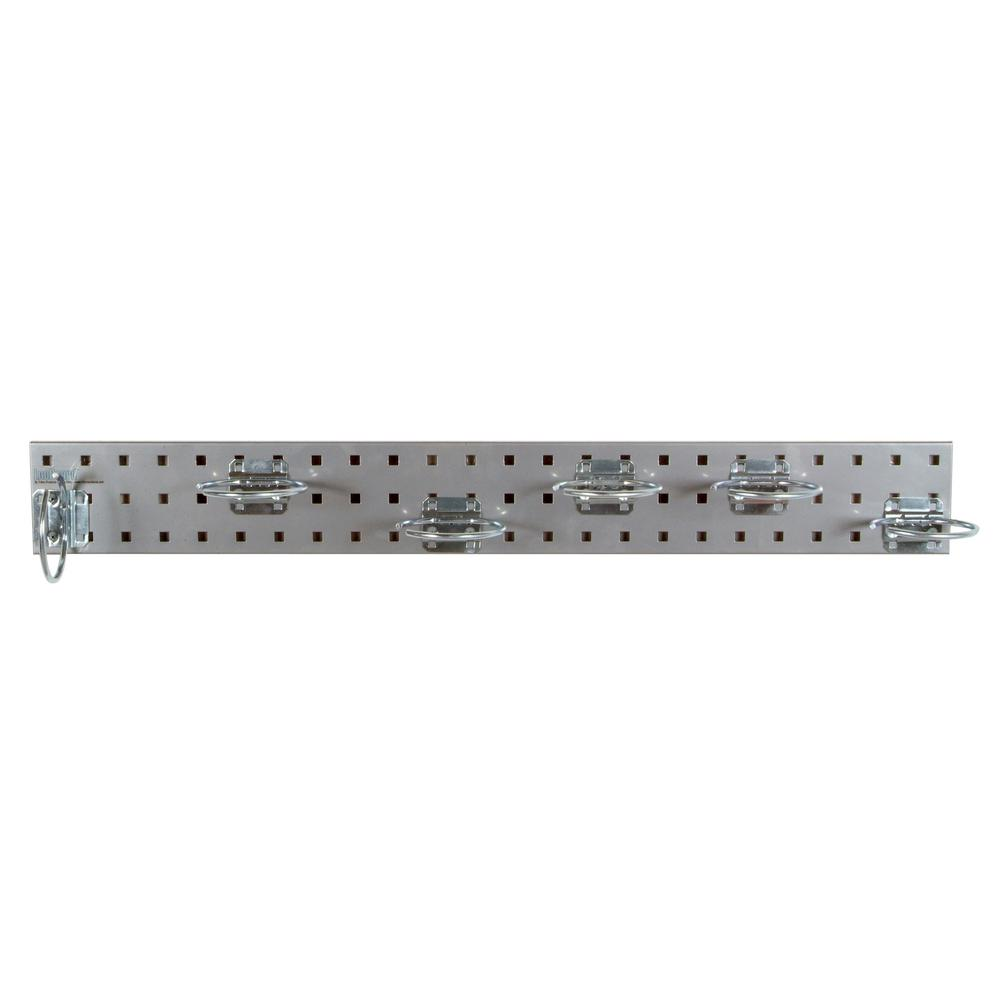 3/8 in. Silver Pegboard Wall Organizer Strip with Assortment