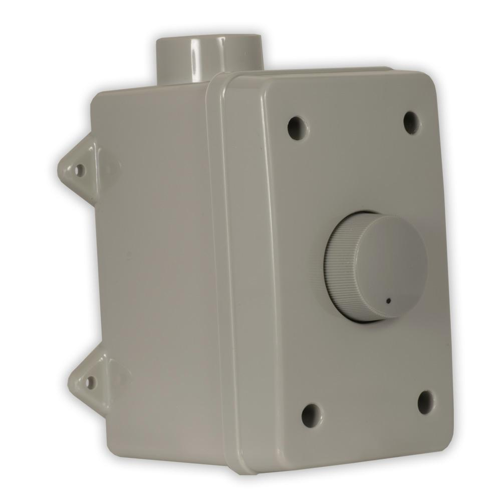 Theater Solutions by Goldwood Outdoor Speaker Volume Control Gray  Weatherproof Dial
