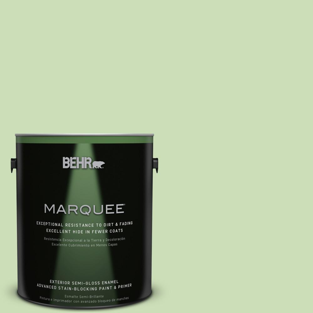 BEHR MARQUEE 1-gal. #430C-3 Peridot Semi-Gloss Enamel Exterior Paint