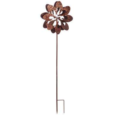 Textured Copper 75 in. Kinetic Wind Spinner