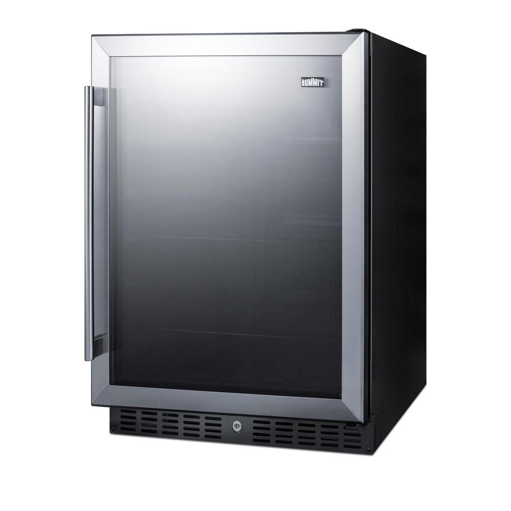 23.63 in. 100 (12 oz.) Can Cooler in Black, ADA Compliant
