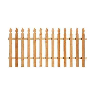 3 12 Ft X 8 Ft Western Red Cedar Spaced Picket French Gothic Fence Panel Kit