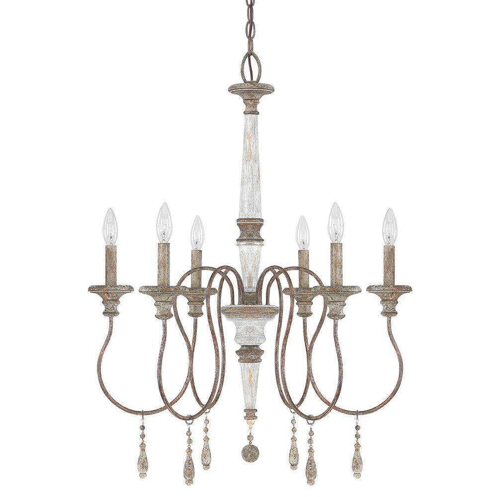 Austin Allen & Co. 6-Light French Antique Chandelier by
