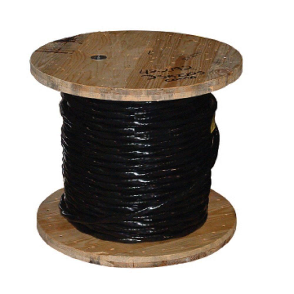 1,000 ft. 2/0 Black Stranded AL USE-2 Cable