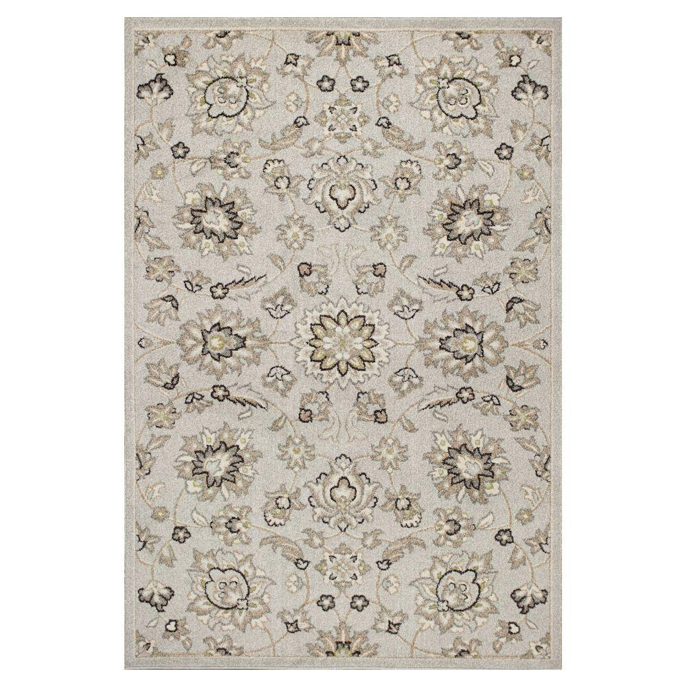 Kas rugs umbria silver 5 ft 3 in x 7 ft 7 in all for All weather patio rugs