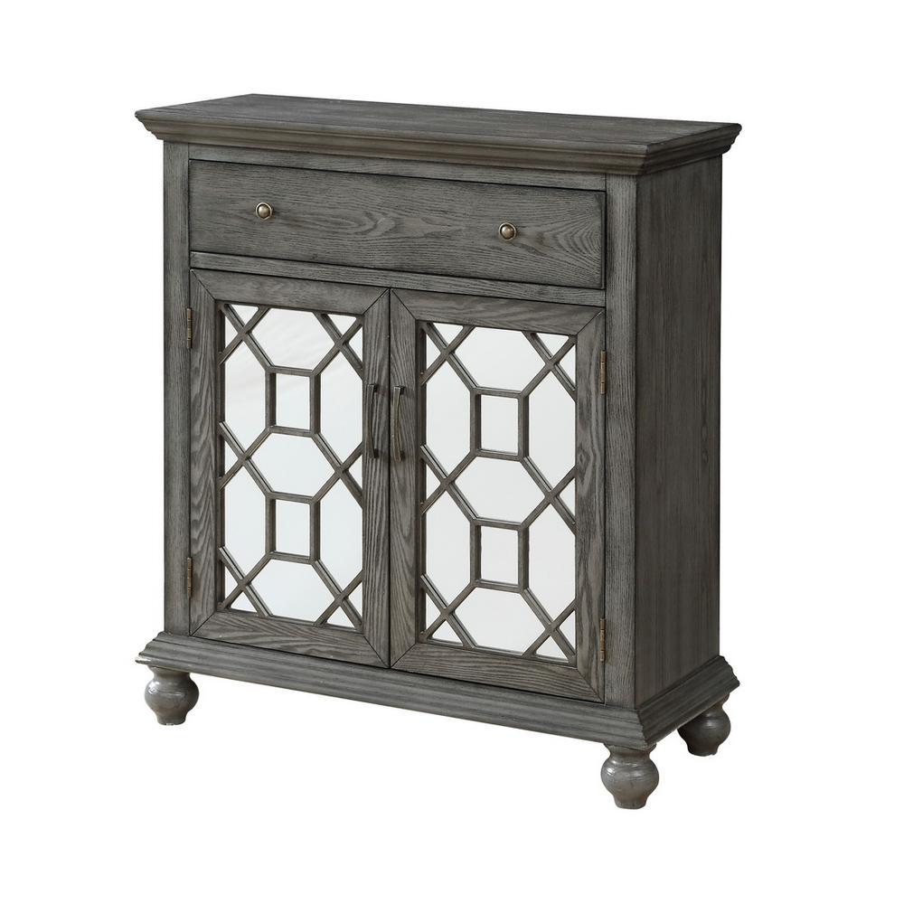 Cedar Springs Grey 2-Door 1-Drawer Cabinet