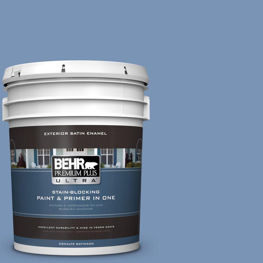 BEHR Premium Plus Ultra 5-gal. #T13-5 Belladonna Satin Enamel Exterior Paint