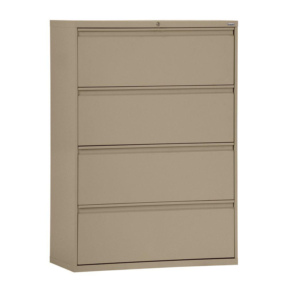 Sandusky 800 Series 30 In. W 4 Drawer Full Pull Lateral File Cabinet In