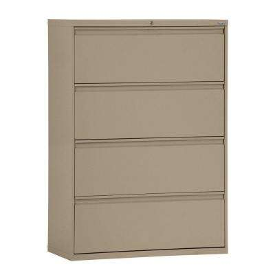 800 Series 30 in. W 4-Drawer Full Pull Lateral File Cabinet in Tropic Sand