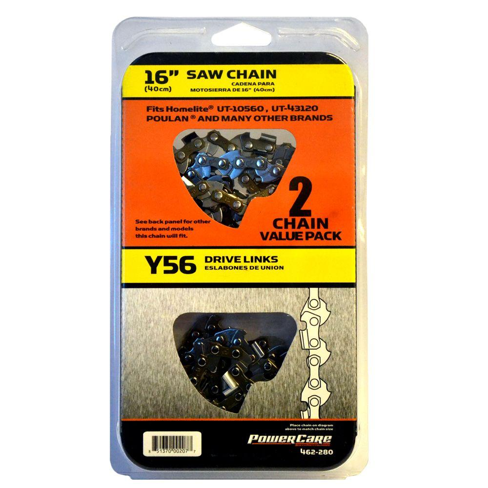 Power Care Y56 16 in. Chainsaw Chain (2-Pack)
