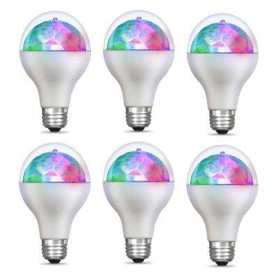 5-Watt E26 Medium Base Multi Color Rotating Disco Party LED Light Bulb (6-Pack)