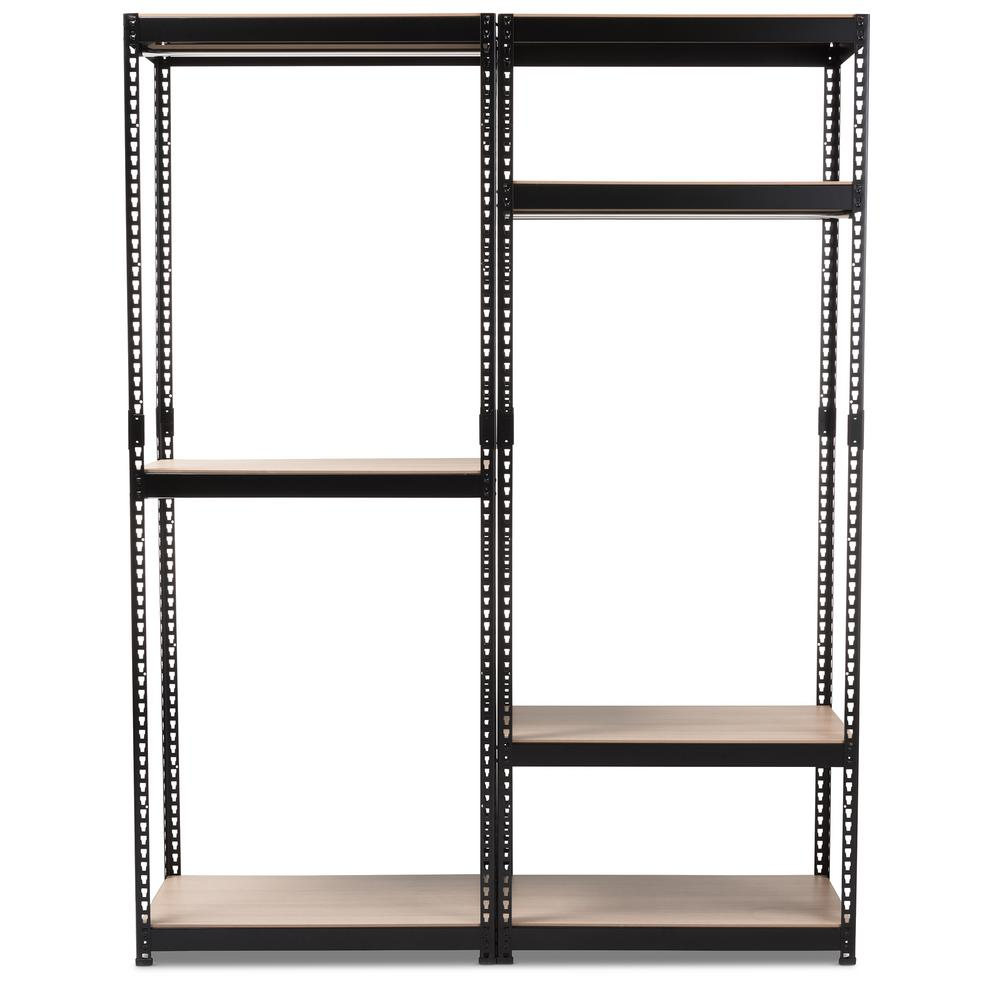 Gavin Black Metal 7-Shelf Closet Storage Racking Organizer