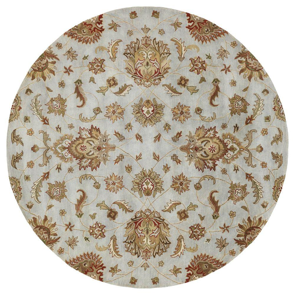 Mystic Europa Pewter 5 ft. 9 in. Round Area Rug
