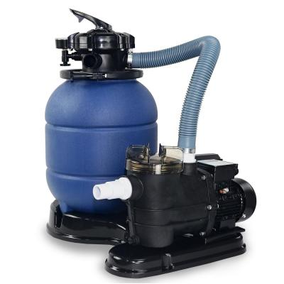 13 in. 1.25 sq. ft. 2400 GPH Sand Pool Filter 4-Way Valve System with 3/4 HP Above-Ground Pump with Stand