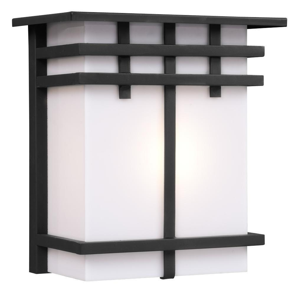 Filament Design Negron 1-Light Outdoor Black Wall Sconce-CLI ...