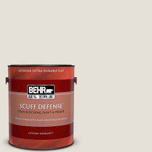 Behr Ultra Scuff Defense 1 Gal 740c 1 Seaside Sand Extra Durable Flat Interior Paint And Primer In One 172001 The Home Depot