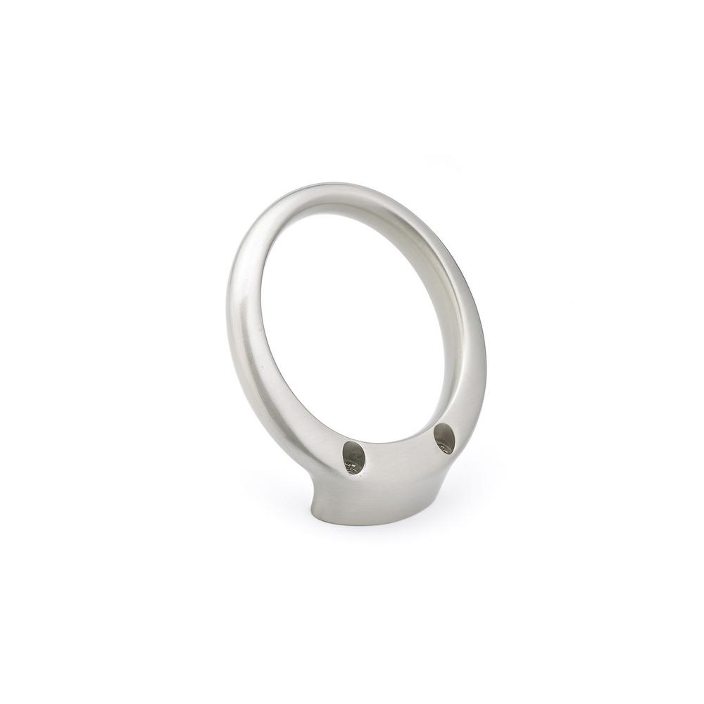 3-11/16 in. (93.5 mm) Brushed Nickel Decorative Hook