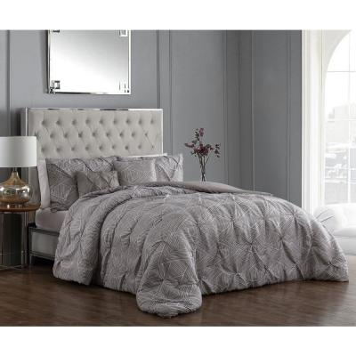 Rory Pintuck 5-Piece Taupe Queen Comforter Set