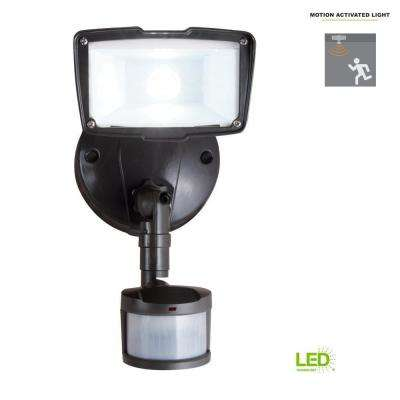 110-Degree Bronze Motion Activated Sensor Outdoor Integrated LED Security Flood Light