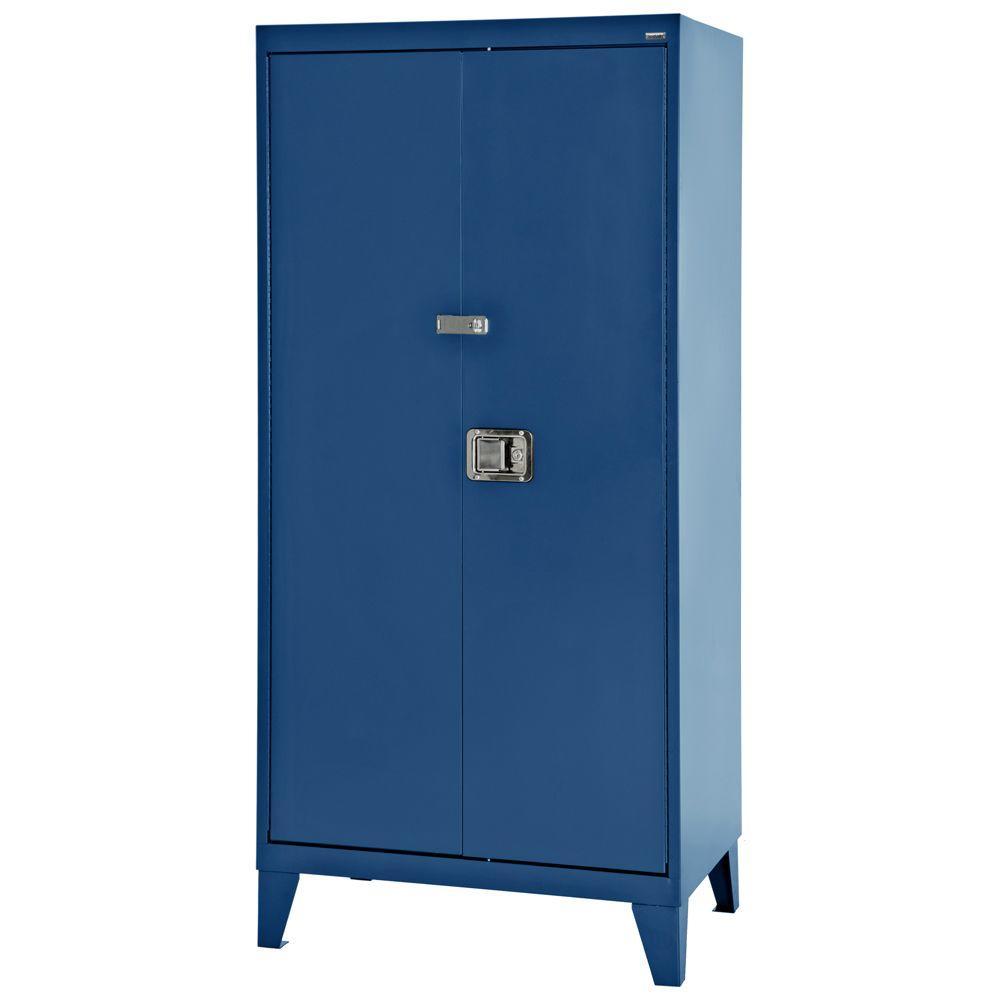 79 in. H x 46 in. W x 24 in. D Freestanding Steel Cabinet in Blue