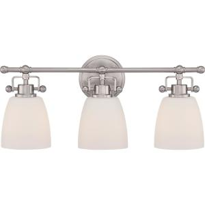 Bower 3-Light Brushed Nickel Vanity Light