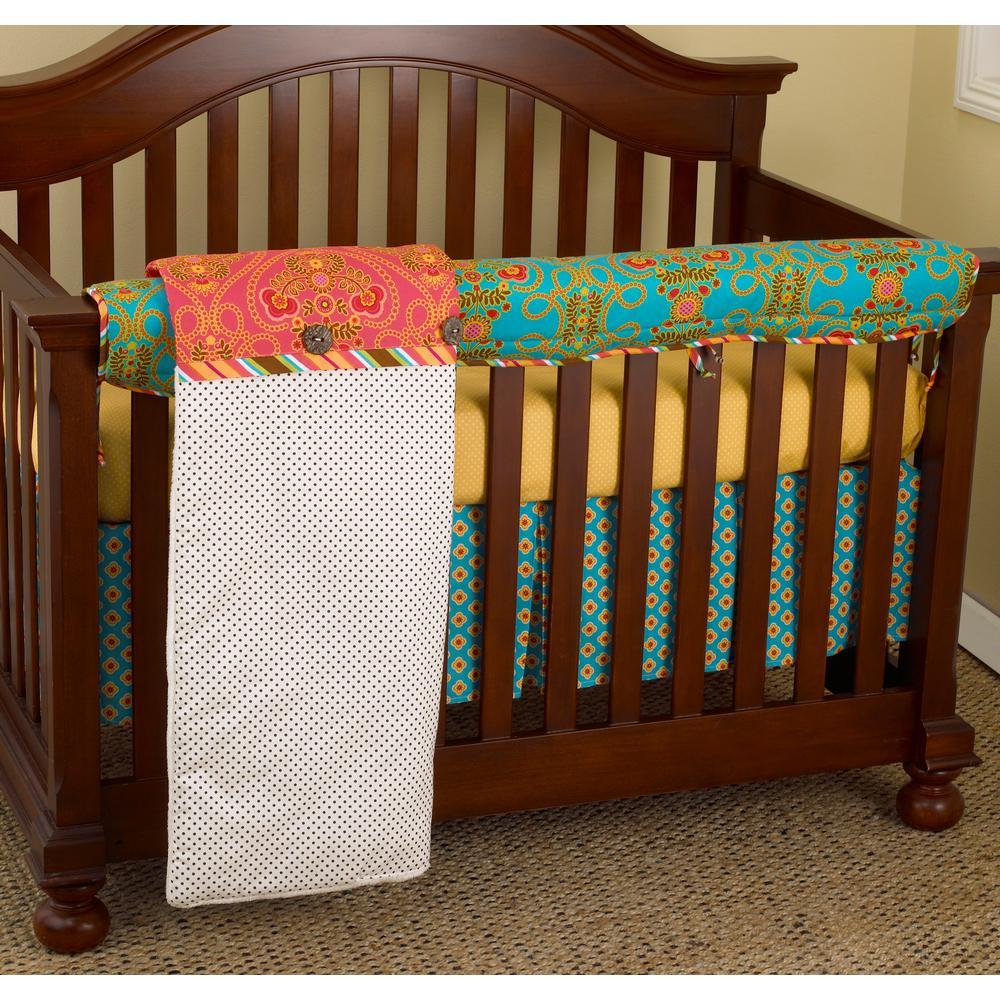 Gypsy Cotton Front Polka Dot Rail Crib Cover Up
