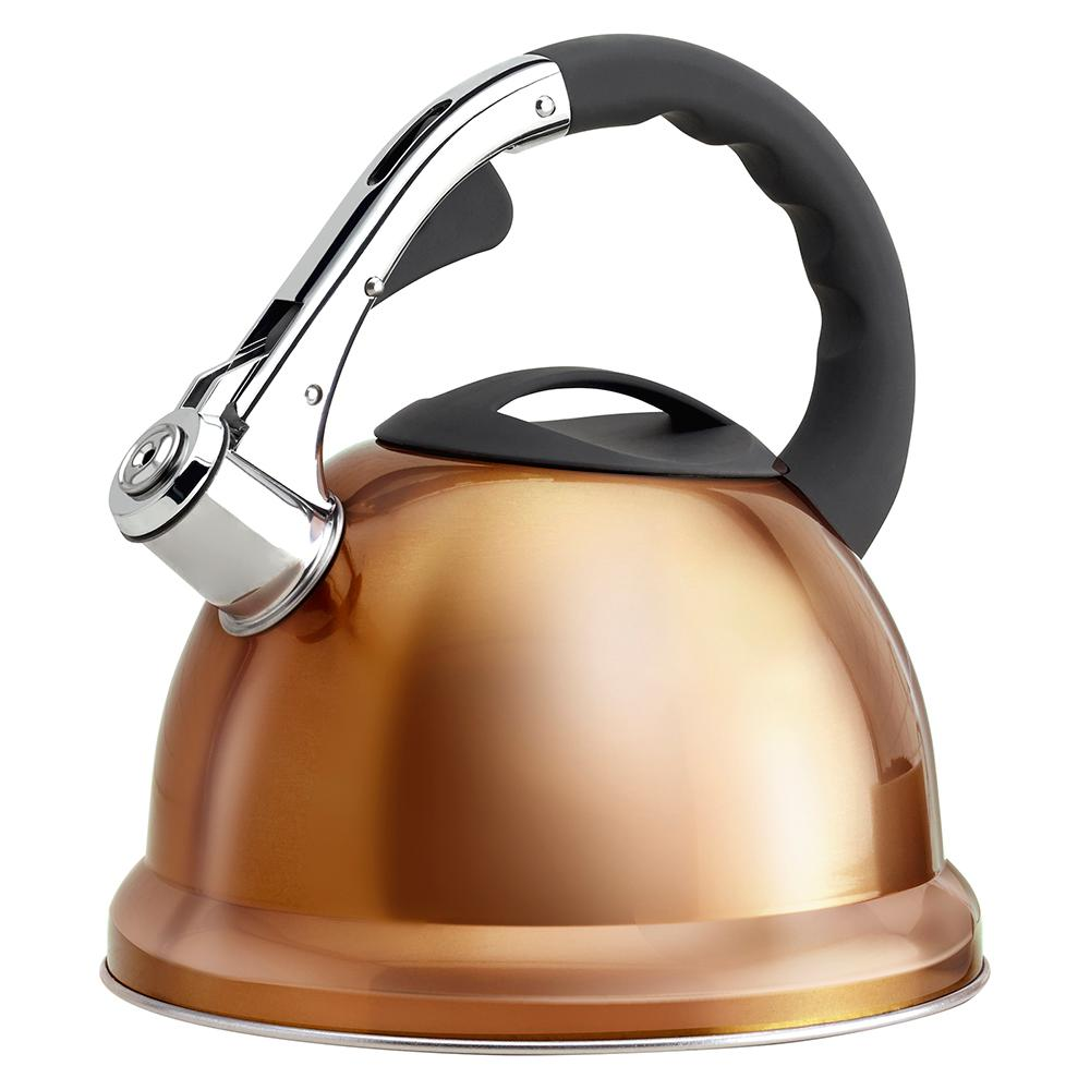 11.4-Cup Stainless Steel Copper Whistling Teakettle