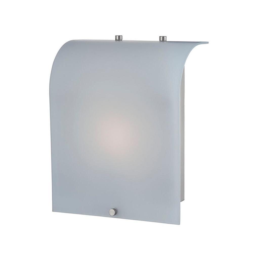 Illumine Designer 1-Light Polished Steel Sconce