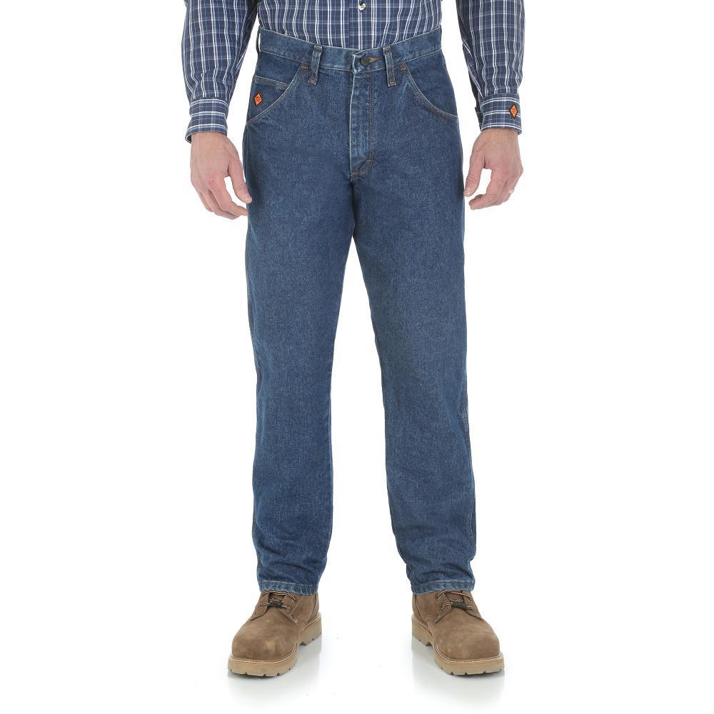 Men's Size 46 in. x 34 in. Denim Relaxed Fit Jean