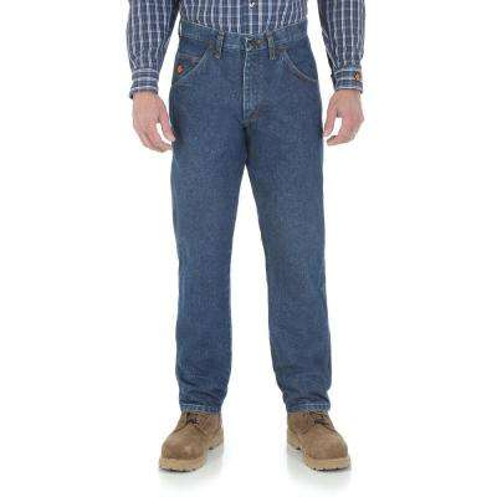 Men's Size 46 in. x 32 in. Denim Relaxed Fit Jean