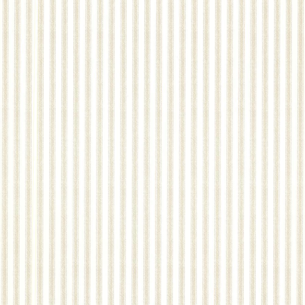 56.4 sq. ft. Longitude Khaki Pinstripes Wallpaper