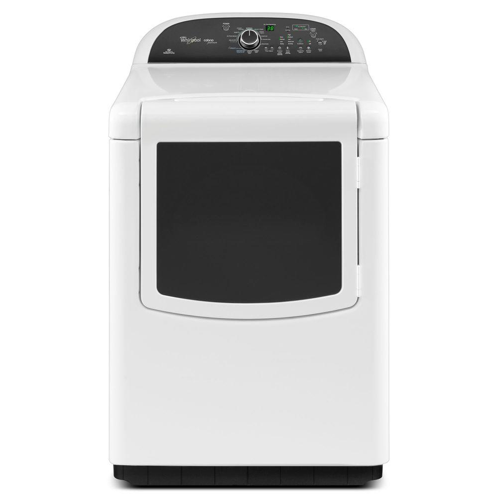 Whirlpool Cabrio Platinum 7.6 cu. ft. Electric Dryer with Steam in White