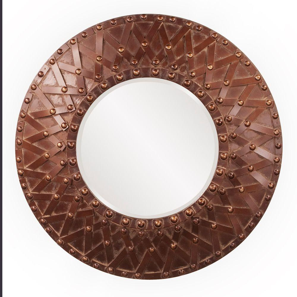 null 32 in. x 32 in. Wood Framed Mirror-DISCONTINUED