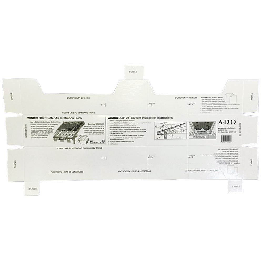 Wind Block Air Infiltration Seal System (10-Pack)