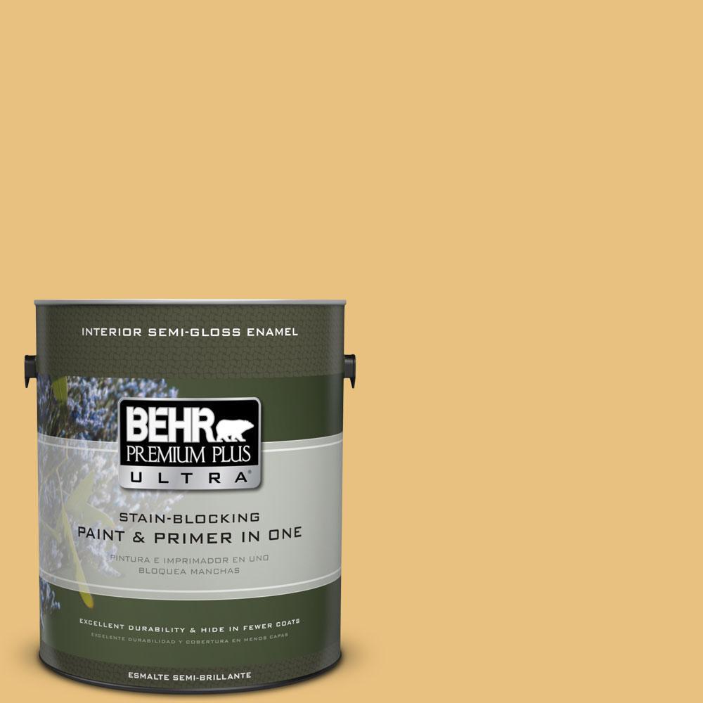 1-gal. #340D-4 Honey Bear Semi-Gloss Enamel Interior Paint
