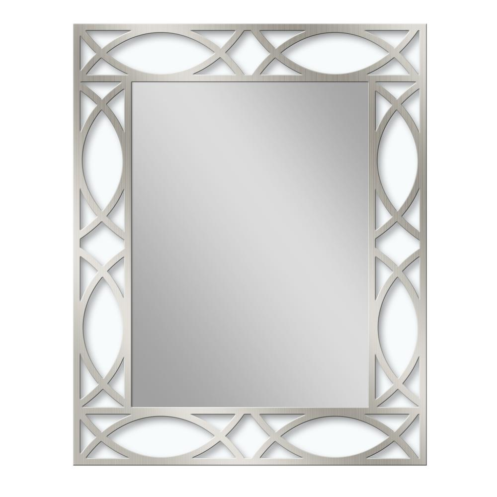 24 in. W x 30 in. H Metal Scroll Etched Wall