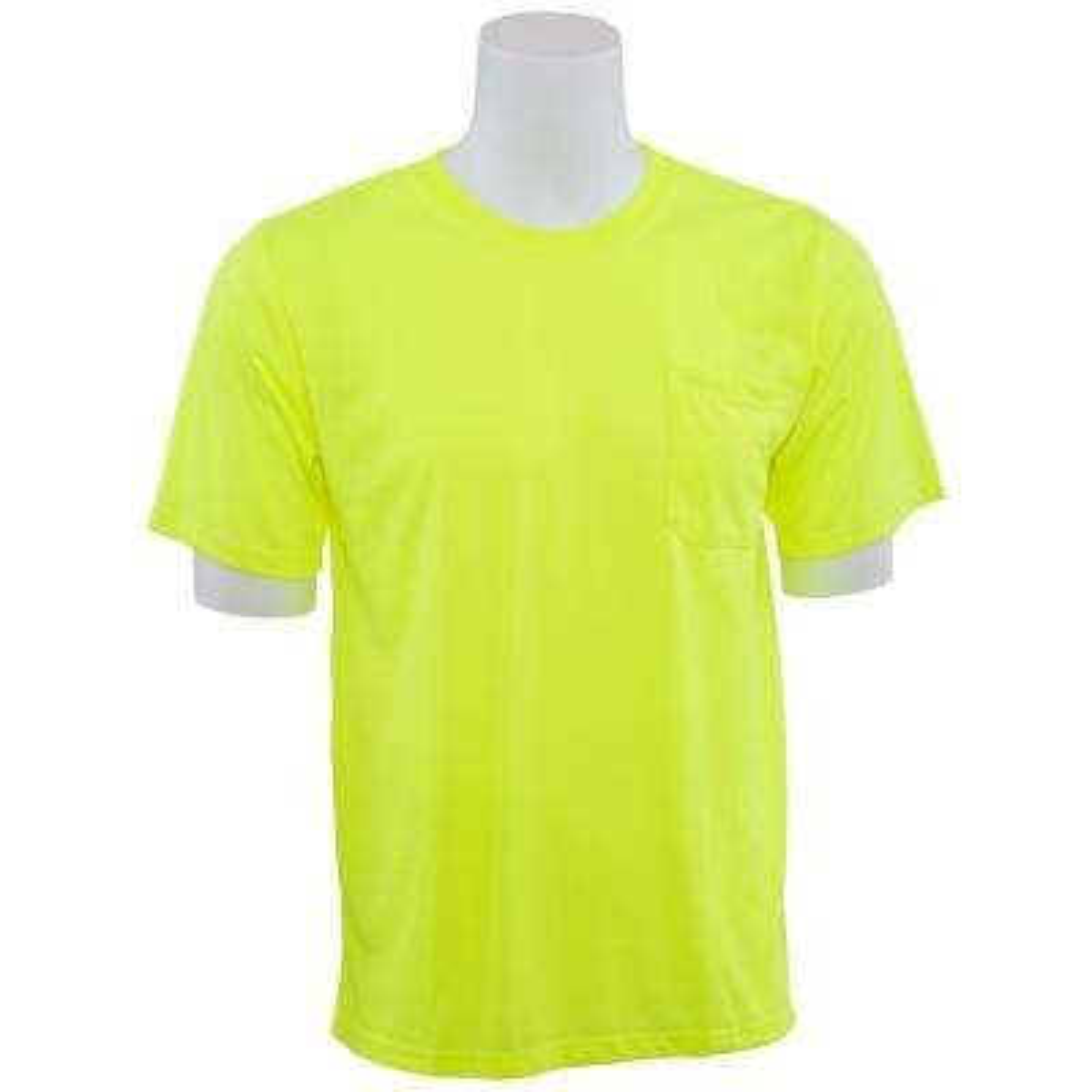 9601 L Non-ANSI Short Sleeve Hi Viz Lime Unisex Poly Jersey T-Shirt