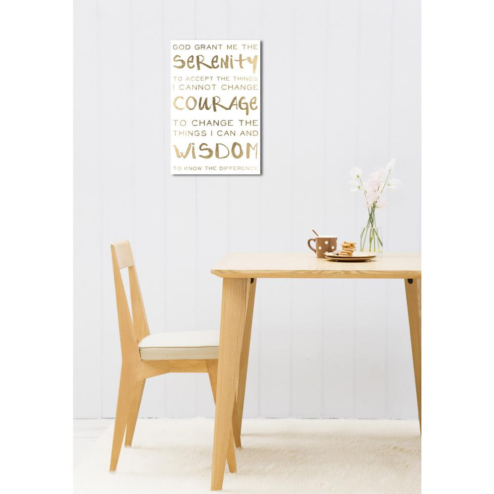 The Oliver Gal Artist Co. 36 in. x 24 in. \'Serenity Prayer\' by ...