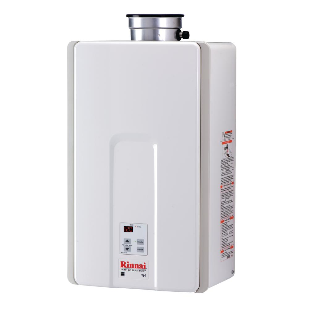 High Efficiency 9.8 GPM Residential 192,000 BTU Natural Gas Interior Tankless