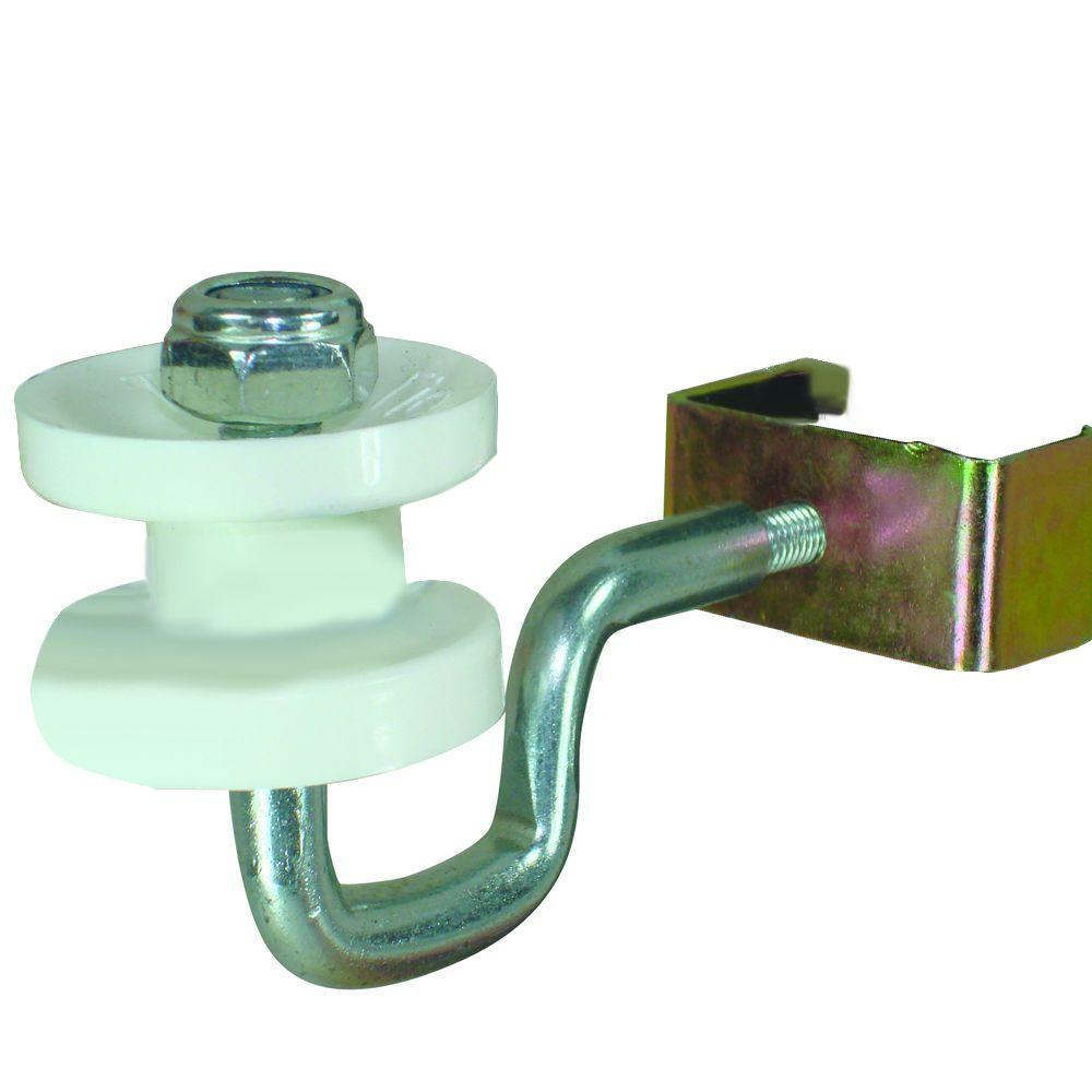 White T-Post Corner Polyrope Insulator (4-Pack)