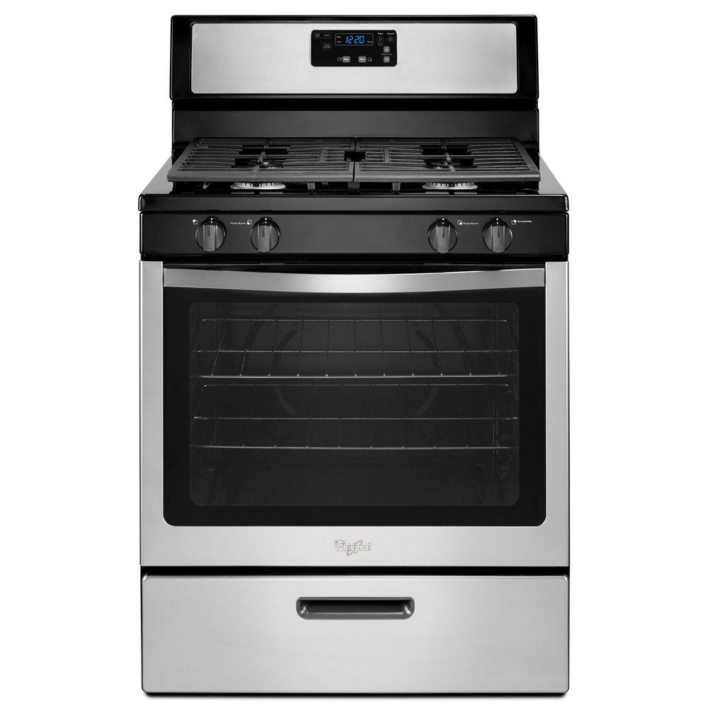Whirlpool Cu Ft Gas Range With UnderOven Broiler In Stainless - Abt gas ranges